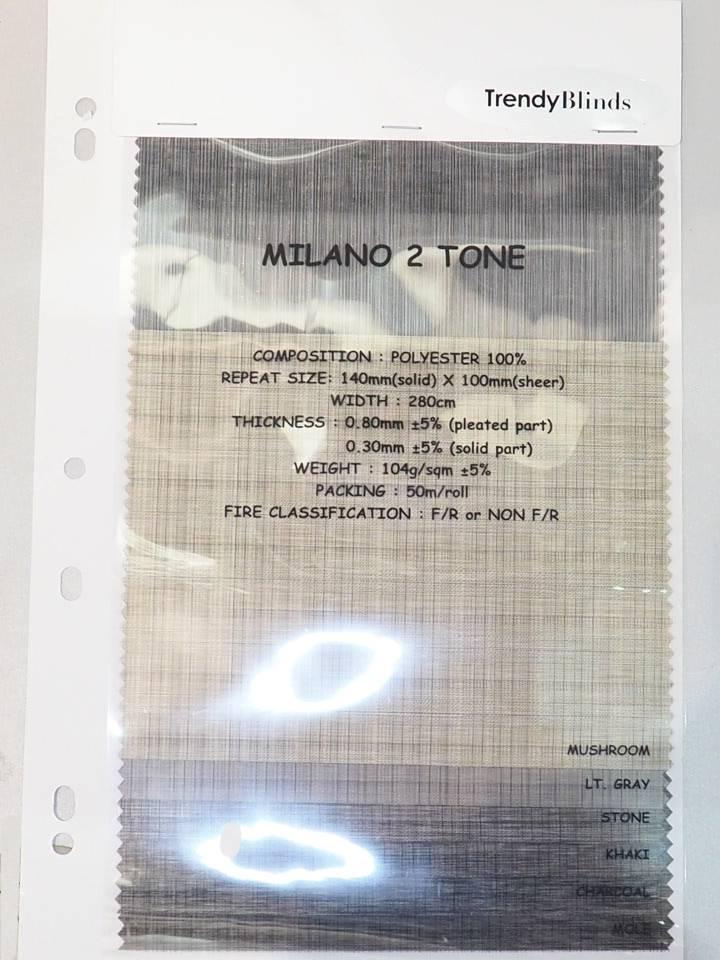 Trendy Blinds Milano 2 Tone