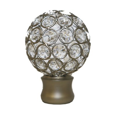 "Trendy Blinds Disco Ball 1-3/8"" Drapery Hardware Ensemble [FIN1]"