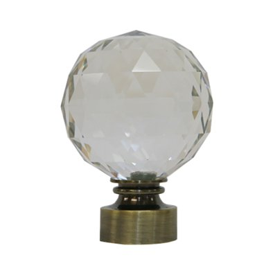 "Trendy Blinds Faceted Ball 1-3/8"" Drapery Hardware Ensemble [FIN6]"