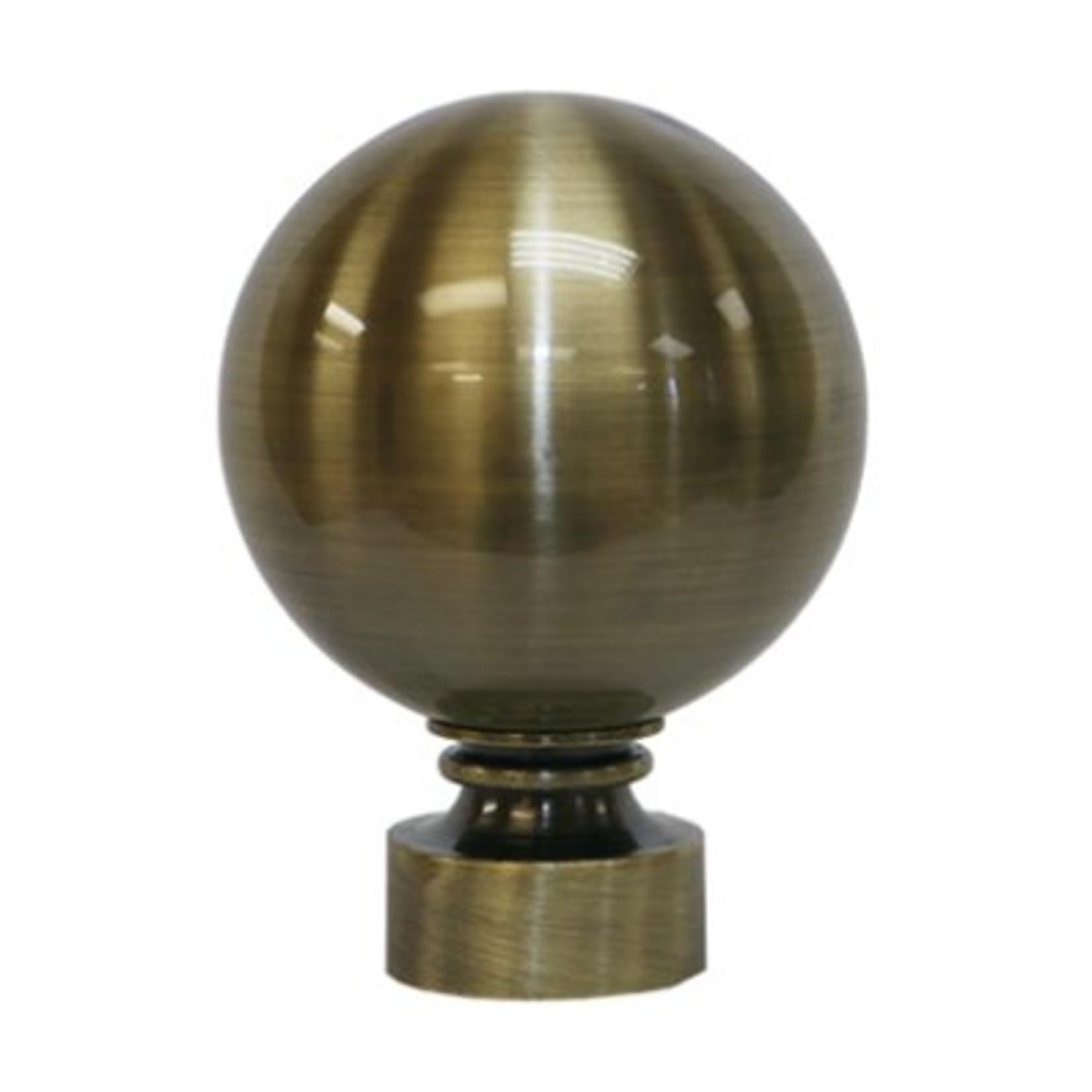 """Trendy Blinds Ball 1-3/8"""" Drapery Hardware Ensemble [FIN4]"""