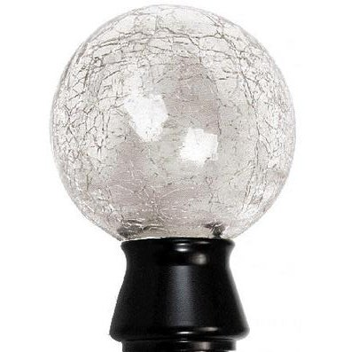 "Trendy Blinds Crackled Ball 1-1/8"" Ice Drapery Hardware Ensemble"