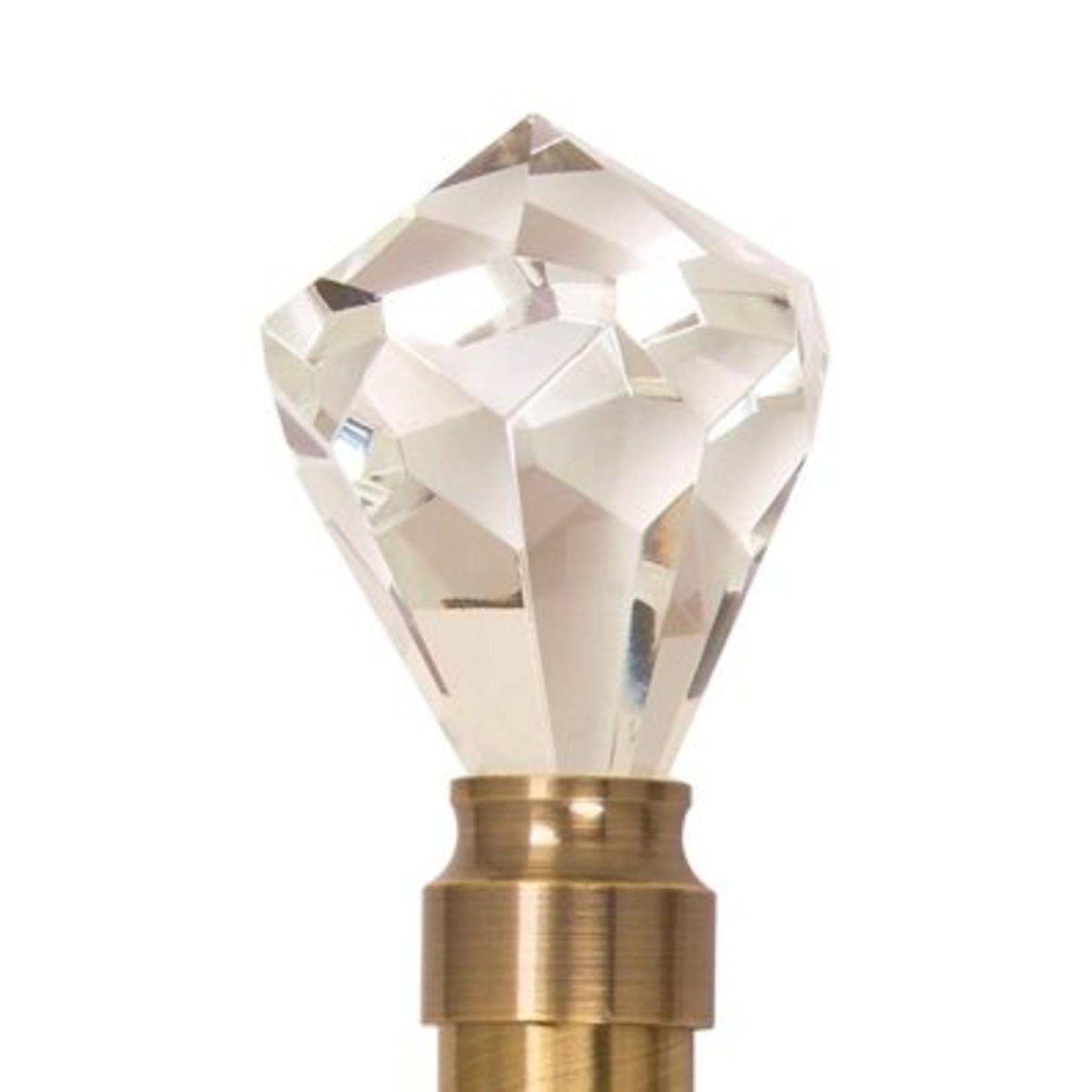 "Trendy Blinds Crystal Diamond 1-1/8"" Ice Drapery Hardware Ensemble"