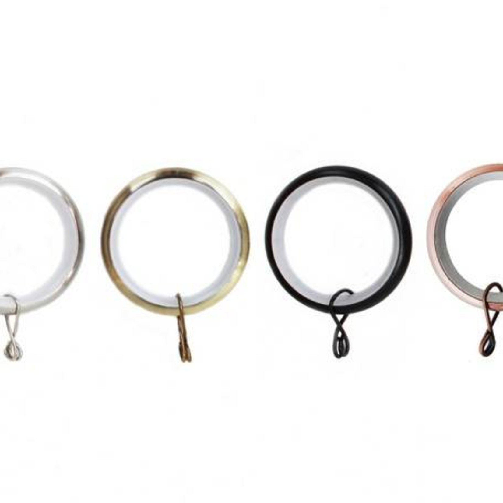 """Trendy Blinds Mayflower: 1-1/2"""" Rings w/ plastic insert and eyelet bag of 20"""