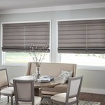 Graber Fresco Flat-Pleat Roman Shade (Fabric Group D)