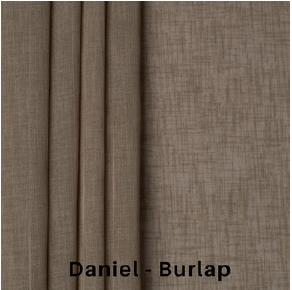 Sheer Fabric Daniel Burlap