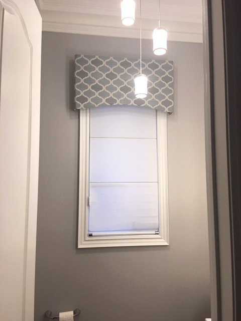 Box Valance in Washroom