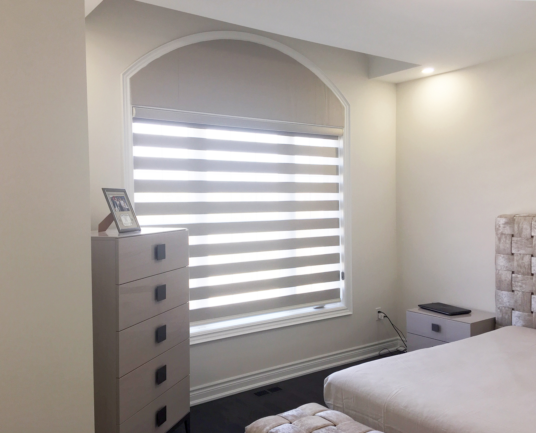 Arch Window Valance with Combi Shades