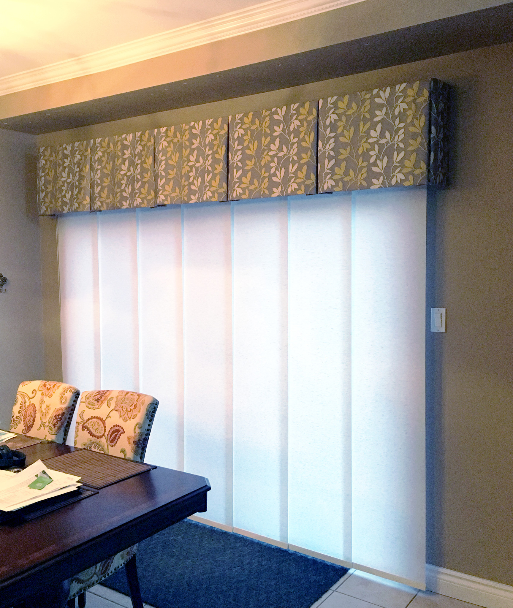 Box Pleat Valance and Panel Track