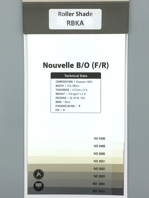 Trendy Blinds Nouvelle Blackout Roller [RBKA-NO]