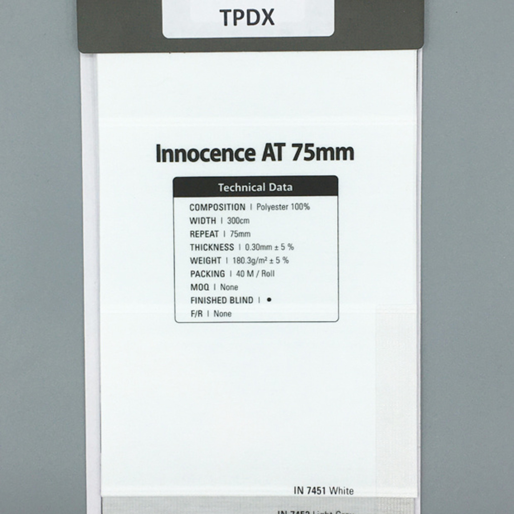 Trendy Blinds - MT Triple Shade Innocence AT 75mm