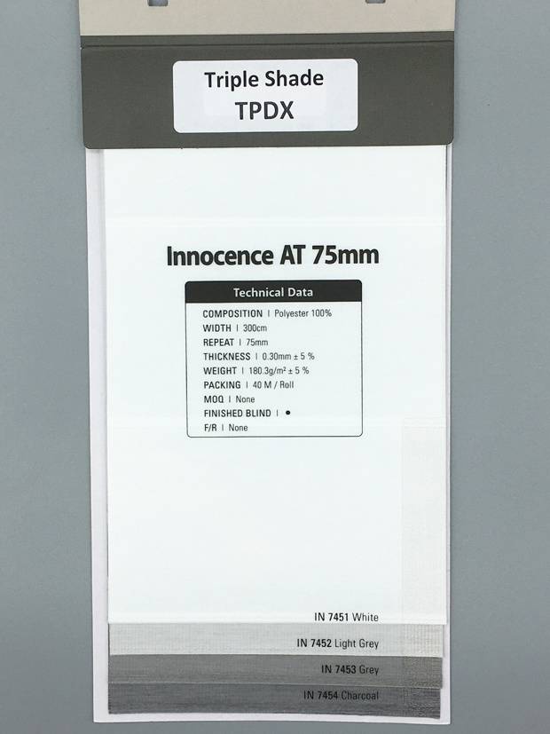 Trendy Blinds - MT Triple Shade Innocence AT 75mm [TPDX-AT]