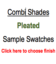 Trendy Blinds Combi Shade - Pleated Sample Swatch