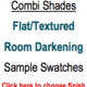 Trendy Blinds Combi Shade - Flat/Textured Room Darkening Sample Swatch
