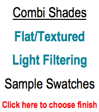Trendy Blinds Combi Shade - Flat/Textured Light Filtering Sample Swatch