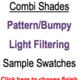 Trendy Blinds Combi Shade - Pattern/Bumpy Light Filtering Sample Swatch