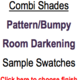 Trendy Blinds Combi Shade - Pattern Room Darkening Sample Swatch