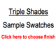 Trendy Blinds Triple Shade Sample Swatch