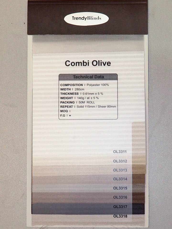 Trendy Blinds Combi Olive
