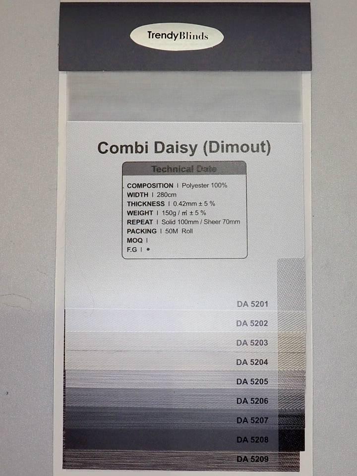Trendy Blinds Combi Daisy room darkening [CMTD-DA]