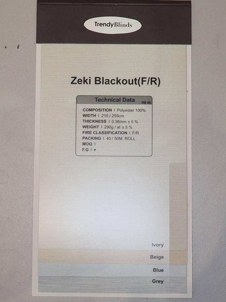 Trendy Blinds Zeki Blackout Roller [RBKA-ZK]