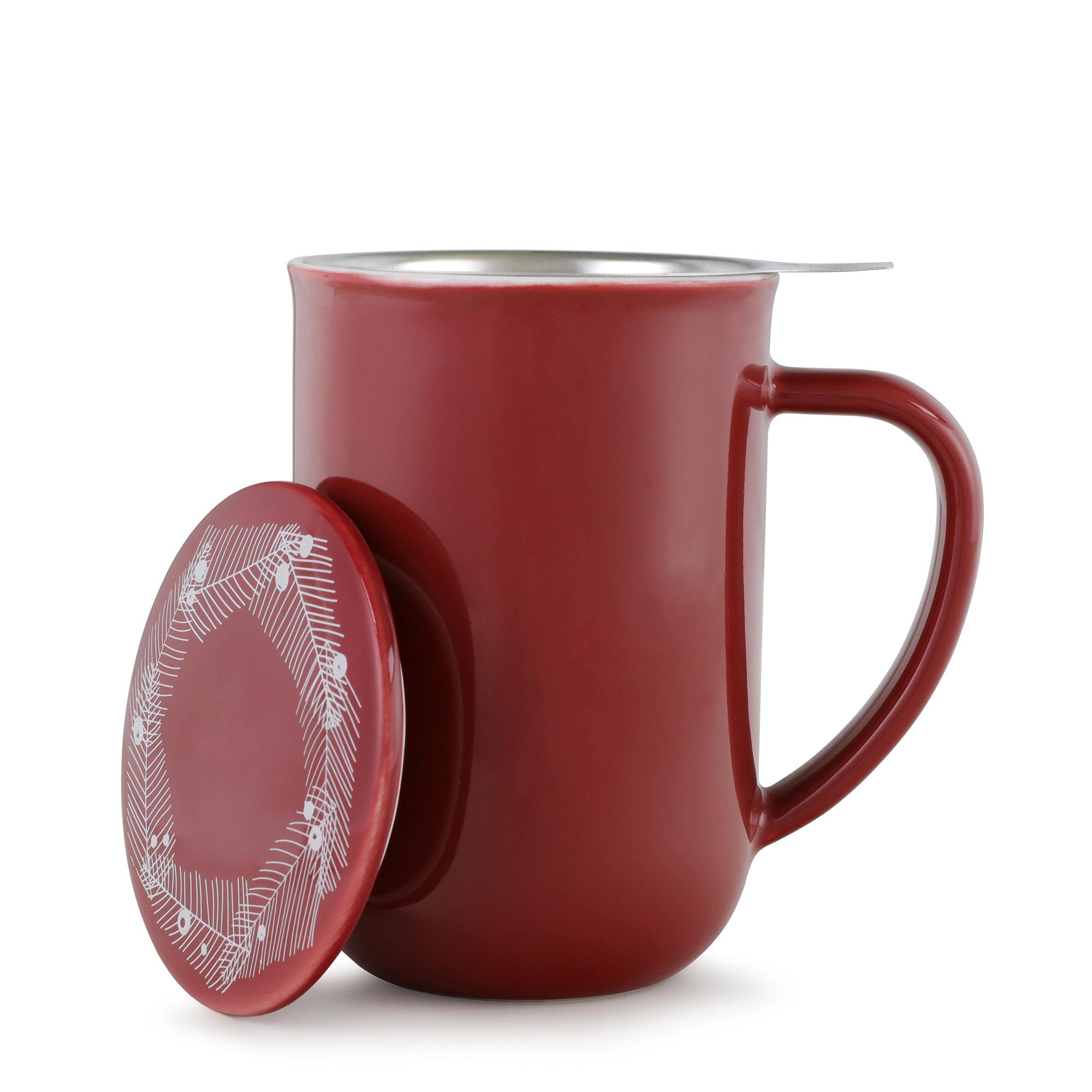 Minima™ Balanced winter tea mug red
