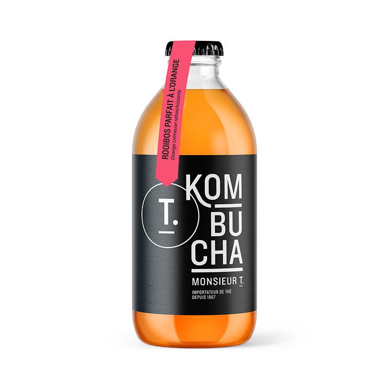 Bouteille kombucha Rooibos parfait à l'orange 355ml
