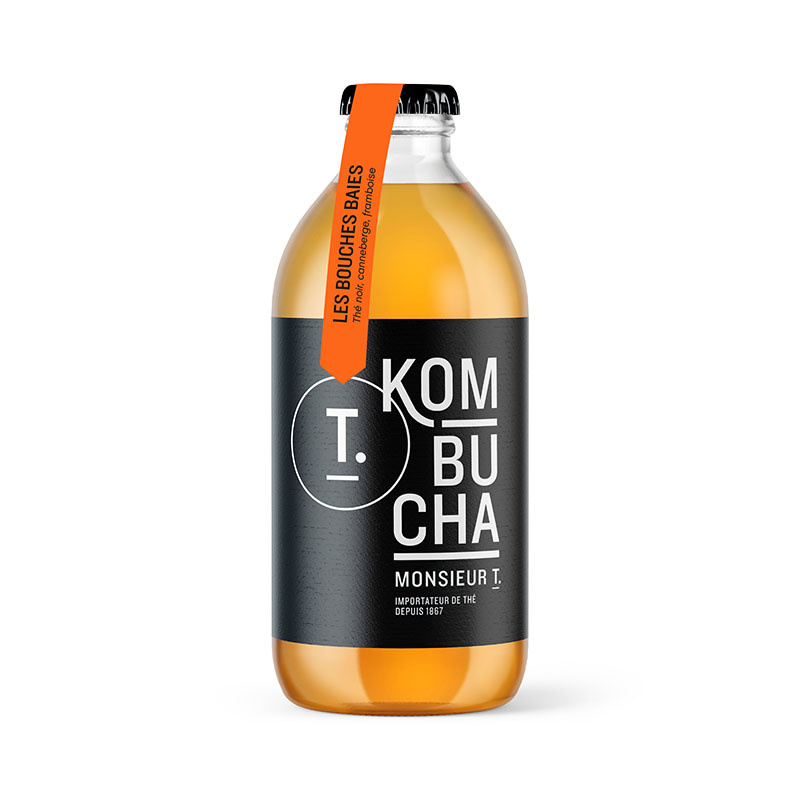 Berry Good kombucha bottle 355ml