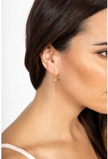 Chan Luu Chan Luu Moonstone 18 K Gold Plate Thread Thru  Earring
