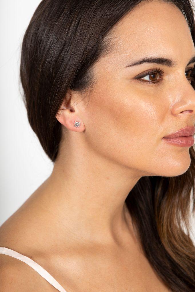 Chan Luu Chan Luu Fine Silver Stud Star Diamond earring