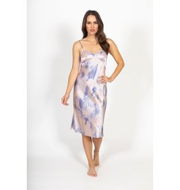 Only Hearts Only Hearts Tie Dye Silk Slip Dress