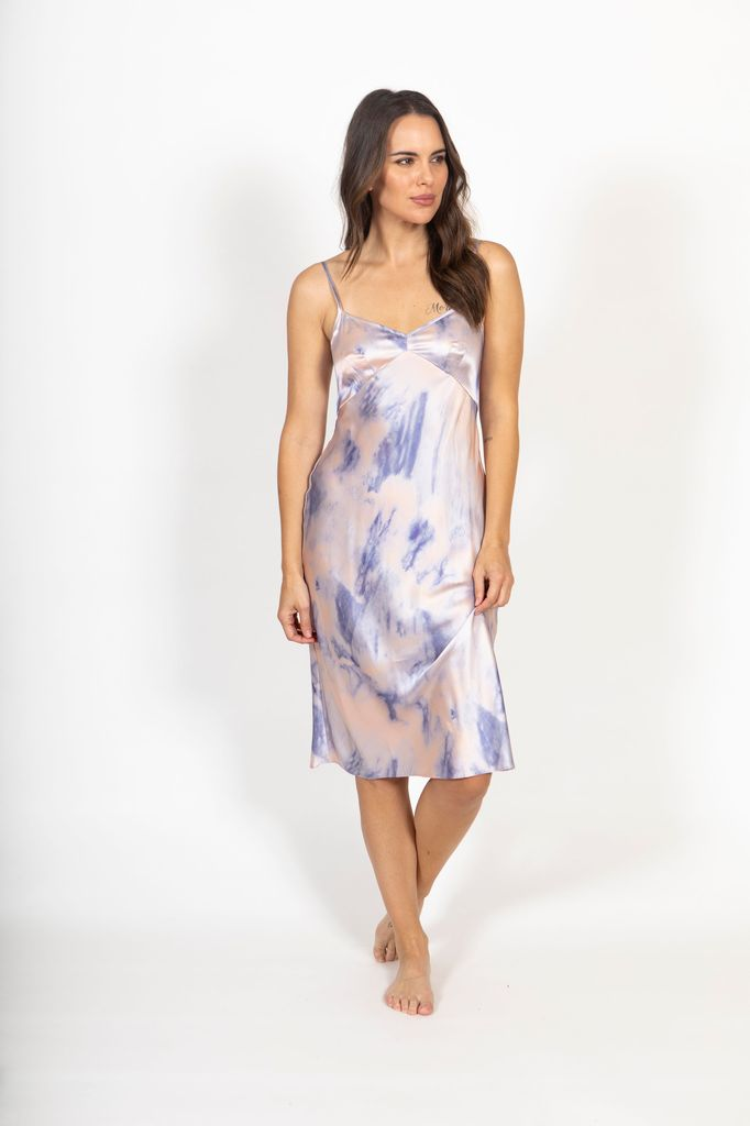 Only Hearts Only Hearts Tie Dye Silk Slip Dress