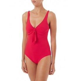 Melissa Odabash Melissa Odabash Lisbon Pique Over the Shoulder Knot Supportive Swimsuit