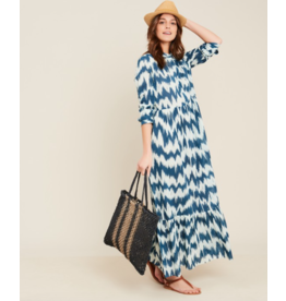 Hartford Hartford Printed Ikat dress