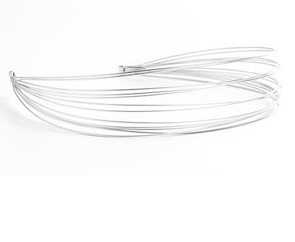 Ficcare Ficcare Silver Matte Metal Headband