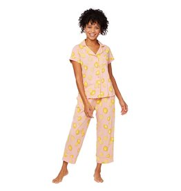 Cat's Pajamas Cat's Pajamas Pink Lemonade Pima Cotton Knit Capri SET