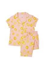 Cat's Pajamas Cat's Pajamas Pink Lemonade Pima Cotton Knit Capri SET