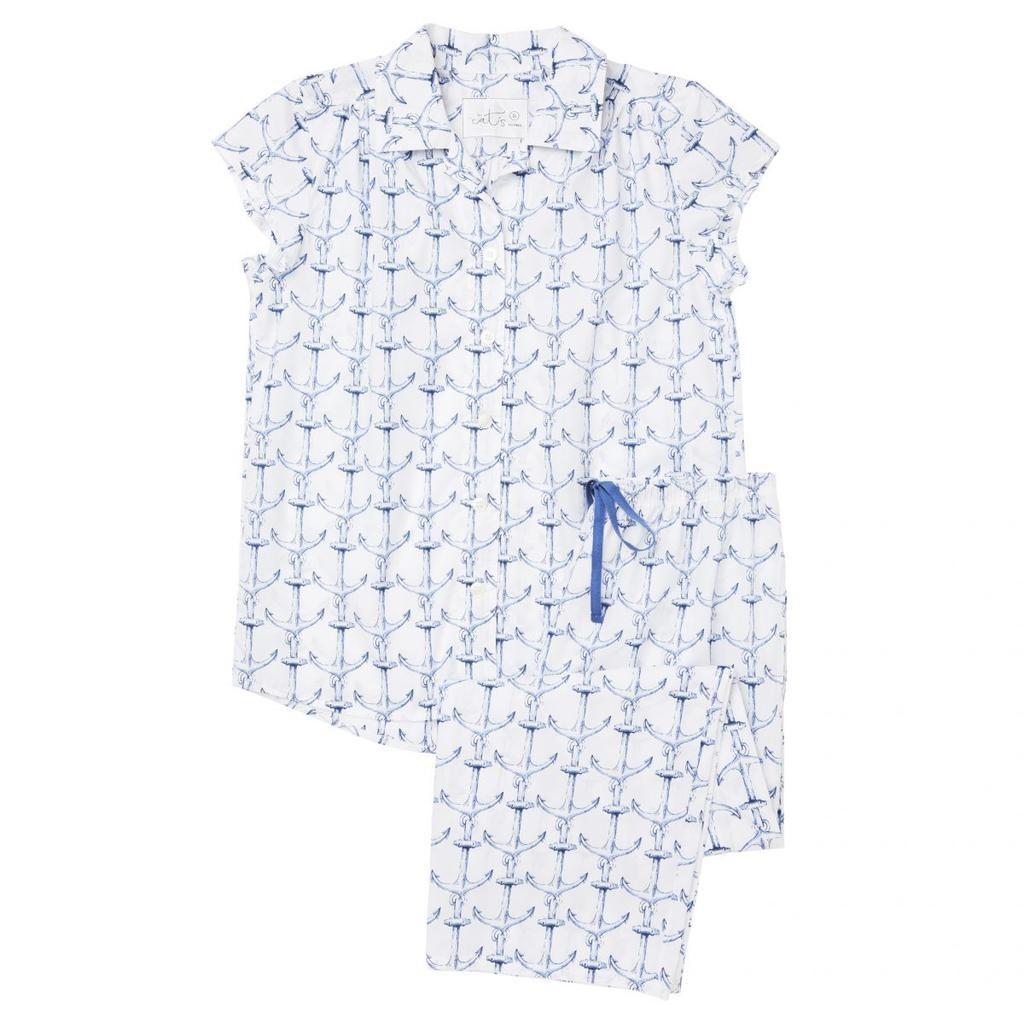 Cat's Pajamas Cat's Pajamas Anchors Away Capri PJ  SET