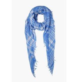 Chan Luu Chan Luu Palace Blue Plaid Cashmere And Silk Scarf