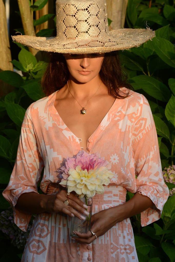 Walker & Wade Walker & Wade Ikat Kelsey Dress Coral