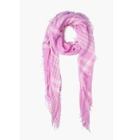 Chan Luu Chan Luu Pink Violet Plaid Cashmere And Silk Scarf