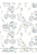 Mahogany Mahogany 100% Cotton Robe Bicycle Josee Print