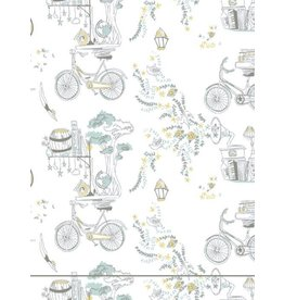Mahogany Mahogany 100% Cotton Robe Bicycle Josee Print