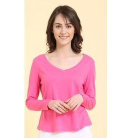 Mahogany Mahogany 100% Cotton Knit Long Sleeve Tee Pink