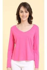 Mahogany Mahogany 100% Cotton Knit Long Sleeve Tee Pink