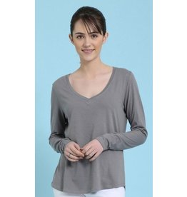 Mahogany Mahogany 100% Cotton Knit Long Sleeve Tee Grey