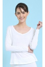 Mahogany Mahogany 100% Cotton Knit Long Sleeve Tee White