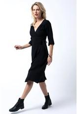 Cameo Wrap dress Black