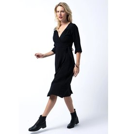 Cameo Wrap dress Black
