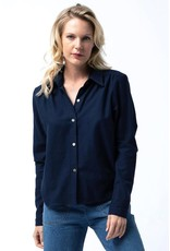 Cameo Flannel button up in Navy<br /> Wrap dress in Orange floral