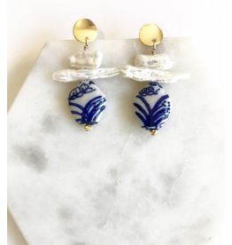 Soul Pepper Soul Pepper Porcelain and Pearl Earring